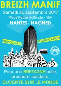 Breizh manifestation Nantes 30 septembre 2017 Breizh Europa