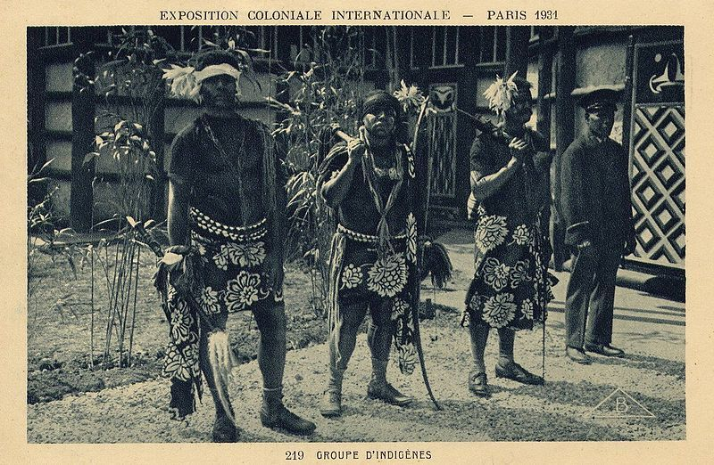 Kanaks exposition coloniale 1931 Nouvelle-Calédonie Breizh Europa